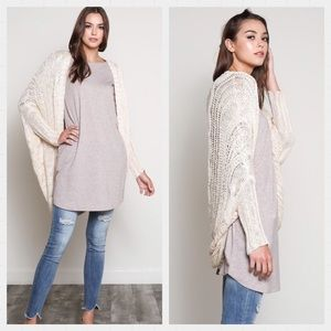 Sweaters - 💗 Natural Cable Knit Open Cardigan. S/M & M/L